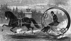 A one-horse monowheel design. 1870-1890.