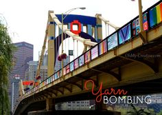 Pittsburgh Bridge Yarn Bombing - Andy Warhol Bridge - OhMy-Creative.com