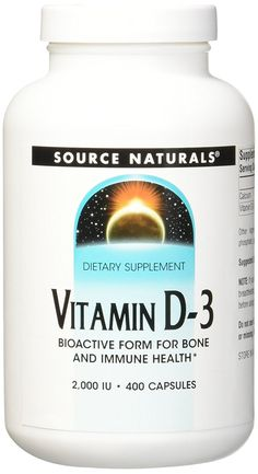 Source Naturals Vitamin D-3, Bone and Immune Health, 400 Count * Be sure to check out this awesome product. (This is an Amazon Affiliate link and I receive a commission for the sales)