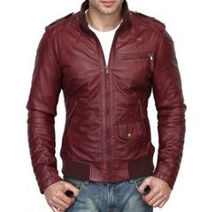Men's Maroon Color Slim Fit Leather Jacket, Men's Fashion Biker Leather Jacket sold by LeathersPlanet. Shop more products from LeathersPlanet on Storenvy, the home of independent small businesses all over the world. Burgundy Leather Jacket, Maroon Jacket, Lambskin Leather Jacket, Biker Leather, Leather Jackets, Cowhide Leather, Real Leather, Leather Men, Brown Leather