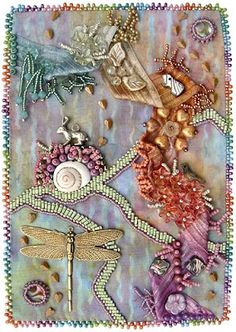 bead journal project, April, Robin Atkins, bead artist