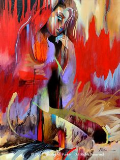 Figures • Abstract Nude Art • Modern Figure Painting Reproduction • Majal • Contemporary Nude Fine Art Print
