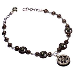 Steampunk Necklace O by CatherinetteRings.deviantart.com on @deviantART