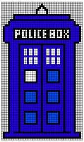 This is a chart for the TARDIS I made to be used for a blanket for my baby. I hope others will find it inspiring! You can download the chart for the entire blanket here on my Swedish website. But I figure most people will use only the TARDIS-pattern, and that's what's in the PDF here on Ravelry.