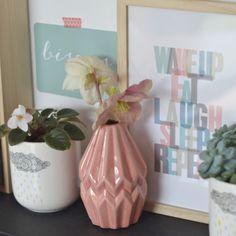 vase origami rose Bloomingville - deco-graphic.com