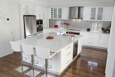 Modern Kitchen with White Cabinets
