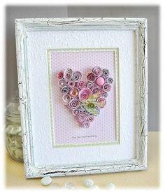 paper rolled heart framed http://media-cache9.pinterest.com/upload/281897257895778223_quUeuvXN_f.jpg houseofheps diy craft
