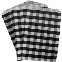 Black & White Gingham Goodie Bags