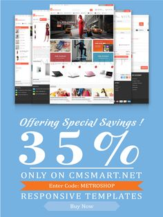 Magento Metro Shop Theme with creative design and gorgeous visual effects