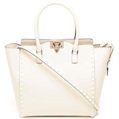 VALENTINO Studded Patent Leather Handbag found on Polyvore