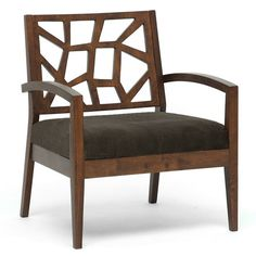 Jennifer Arm Chair in Dark Brown