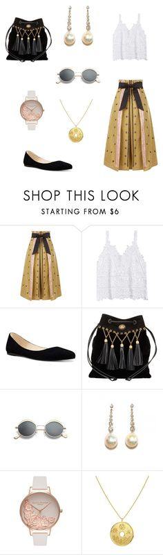 """""""Untitled #70"""" by eveline-maria ❤ liked on Polyvore featuring Temperley London, Nine West, Miu Miu and Olivia Burton"""