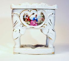 Porcelain Hand Painted Planter with Gold Leaf Detail
