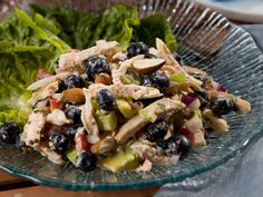 Blueberry Chicken Salad with Almonds | mrfood.com