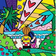 Find the latest shows, biography, and artworks for sale by Romero Britto. Celebrated for the vibrancy and optimism of his paintings, Romero Britto works in a… Graffiti Painting, Acrylic Painting Canvas, Graffiti Art, Punk Nursery, Tableau Pop Art, Drawing For Kids, Digital Prints, Art Drawings, Art Projects
