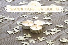 wrap tea lights in washi tape to add a festive touch