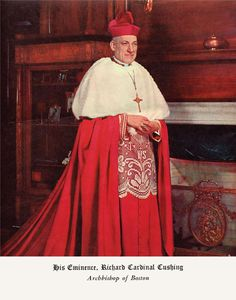 Richard Cardinal Cushing of Boston. Irish Catholic, Roman Catholic, Priest Robes, Catholic Cardinals, Roman Church, John F Kennedy, Irish Traditions, Halloween Disfraces, Kirchen