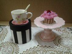 Tacita de cafe y porta cupcake