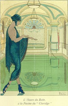 Armand Vallée, La Guirlande, L'Heure du Bain, 1919-20 | Flickr - Photo Sharing!