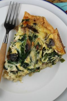 ham spinach and mushroom quiche 3