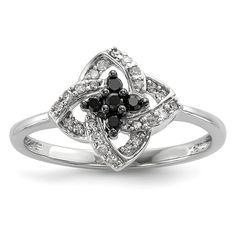 *Extra 10% off on our store plus No Shipping Charges! Period. Sterling Silver B... Check it out here! http://shirindiamond.net/products/sterling-silver-black-and-white-diamond-pinwheel-ring-qr3295?utm_campaign=social_autopilot&utm_source=pin&utm_medium=pin