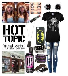 """""""hot topic employee #1"""" by emmcg915 ❤ liked on Polyvore featuring Converse"""