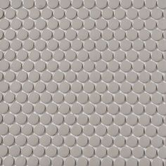 Shop Style Selections 5-Pack Gray Glazed Porcelain Mosaic Penny Round Wall Tile (Common: 11-in x 13-in; Actual: 11.5-in x 12.75-in) at Lowes.com
