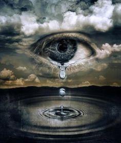 image d'yeux qui pleure