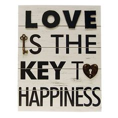 Key To Happiness Wall Plaque  This is $30 at Kohls, I think I can make it myself for a whole lot less =)