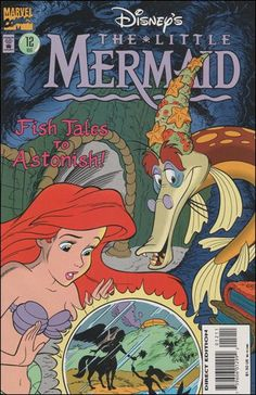 Of Myths and Mermaids is the twelfth issue of the Marvel Comics serial for The Little Mermaid. Vintage Disney Posters, Disney Movie Posters, Vintage Cartoon, Vintage Comics, Teen Posters, Cartoon Posters, Cool Posters, Cartoons, Retro Wallpaper