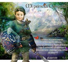 invitacion de primera comunion, creativas y personalizadas con la foto del niño.