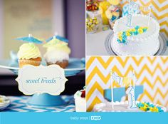 Chevron Turquoise Party Theme (You Are My Sunshine)