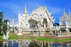 The white temple or Wat Rongkhun, Chiang Rai, #Thailand