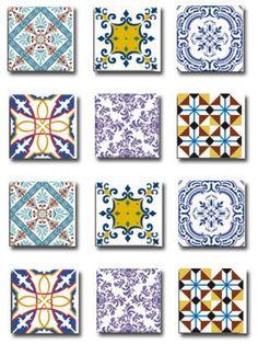 Adesivos imitando azulejo português. Retirado de…