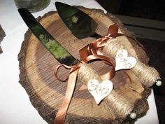 Personalized Rustic Wedding Cake Serving by KELLYRusticCreations, $25.00