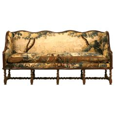 circa 1690 Opulent Original Antique French Sofa w/Earlier Aubusson Upholstery ~ amazing!  From a unique collection of antique and modern sofas at http://www.1stdibs.com/furniture/seating/sofas/