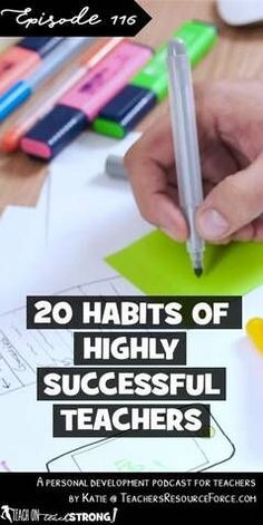 20 habits of highly successful teachers Teaching Plan, Primary Teaching, Teaching Strategies, Teaching Tips, Teacher Training Primary, Teacher Organization, Teacher Hacks, Organized Teacher, Teacher Blogs