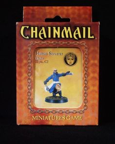 Chainmail Dungeons & Dragons D20 Human Sorcerer Thalos New in Factory Box!