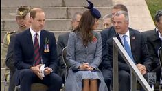 4/25/14 William & Kate at the War Memorial for Anzac Day in Canberra, Australia.