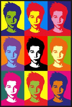 I think this self portrait suits me. Obviously an Andy Warhol concept. I think this self portrait suits me. Obviously an Andy Warhol concept. Andy Warhol Pop Art, Andy Warhol Portraits, Portraits For Kids, Pop Art Portraits, Portrait Art, Pop Art For Kids, Kids Fun, Nicola Tesla, Pop Art Fashion