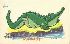 CARTE-POSTALE-WALT-DISNEY-CROCODILE-PETER-PAN-PUBLICITE-CHOCOLAT-TOBLER