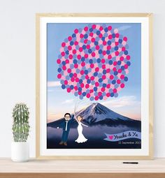 mountain inspired wedding guest book print | 21 Unique Themed Guest Book Alternatives via http://emmalinebride.com/reception/themed-guest-book-alternatives/