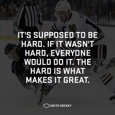It's supposed to be hard. If it wasn't hard, everyone would do it. #quote…