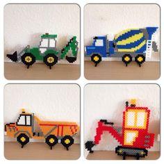 Perler+Bead+Vehicles | Hama perler bead vehicles by karinavandborg