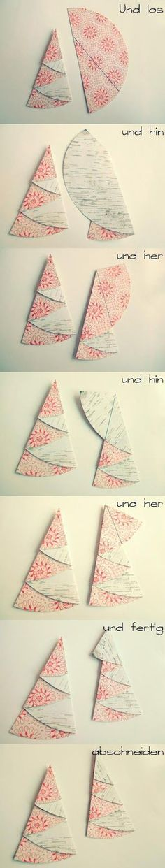 Scrapbox: folding fir trees - a little tutorial by Maria mariasscrapbox . - Scrapbox: Folding Christmas trees – a little tutorial from Maria mariasscrapbox. Christmas Art, Christmas Projects, All Things Christmas, Handmade Christmas, Christmas Decorations, Christmas Ornaments, Navidad Diy, Diy Cards, Homemade Cards