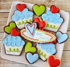 LilaLoa: Cupcake Valentine Cookies