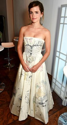 Emma Watson in a Dior couture dress
