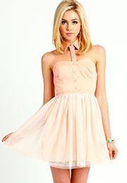 Collared Tulle Dress:$25.90