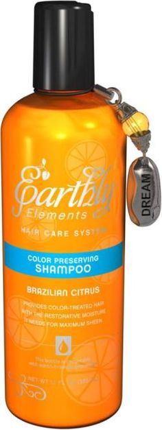 Brazilian Citrus Color Preserving Shampoo and Conditioner by Earthly Elements (made of green tea extract, citrus oil and cranberry seed oil).  Available at www.solgar.com