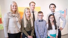 Princess Mette-Marit visits a exhibition at Oslo City Hall